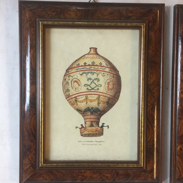 Illustration Vintage Hot Air Balloon Prints - A Pair For Sale - Image 3 of 7