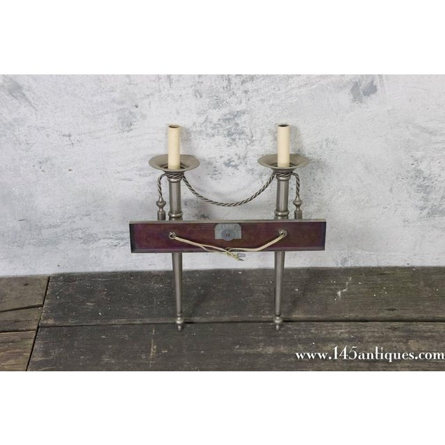 Pair of Nickel-Plated Sconces - Image 7 of 11