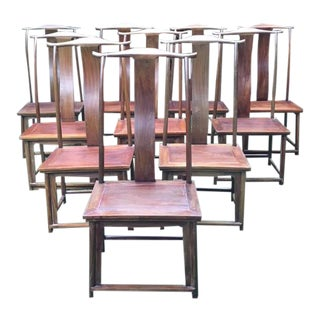 Chinese Ming Dining Chairs - Set of 10