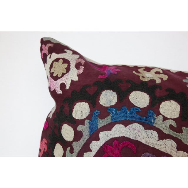 Vintage Handmade Needlework Suzani Throw Pillow Cover For Sale - Image 10 of 13