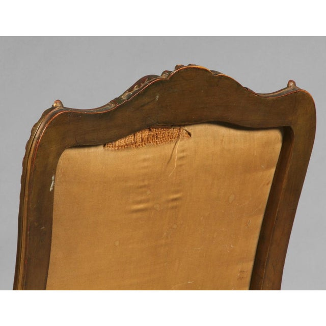 Rococo Pair of Rococo Chairs Early 19th Century For Sale - Image 3 of 8