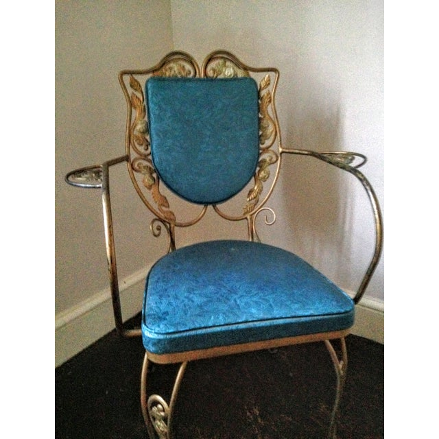 Mid Century Hollywood Regency Accent Chair - Image 4 of 11
