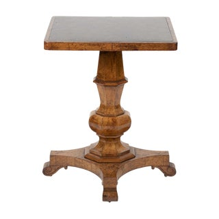 19th Century George IV Burr Elm and Ash Side Table With Scagliola Top For Sale