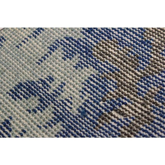 Silk Cianna Modern Ramonita Blue/Ivory Wool & Viscouse Rug - 4'1 X 6'3 For Sale - Image 7 of 8