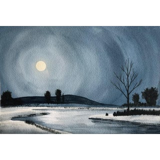 Watercolor - Moonlight For Sale