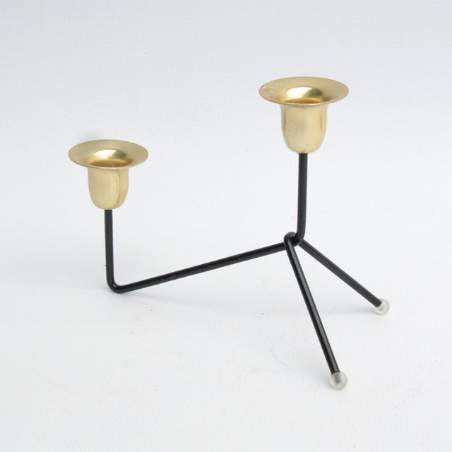 1970s Modernist Standing Candlestick, Belgium For Sale - Image 9 of 9