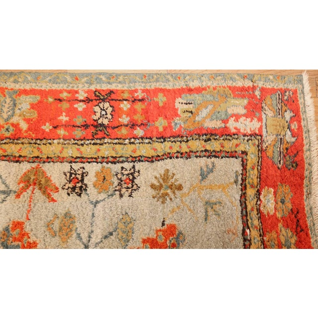 Late 19th Century Antique Turkish Arts & Crafts Oushak Rug - 8′4″ × 17′3″ For Sale - Image 5 of 11