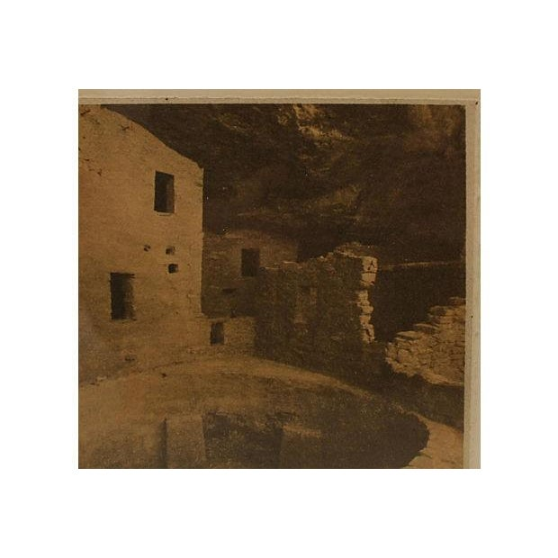 Framed Sepia Toned Vintage Signed Photograph For Sale - Image 4 of 6