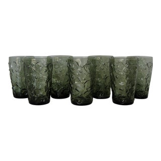 Bryce Textured Glasses - Set of 7 For Sale