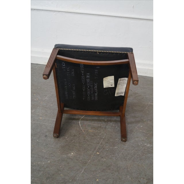 Gunlocke Traditional Black Office Arm Chairs - A Pair - Image 9 of 10