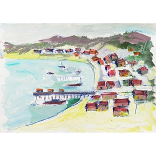 'Fisherman's Shacks, Monterey' by Robert Canete, California Expressionist For Sale
