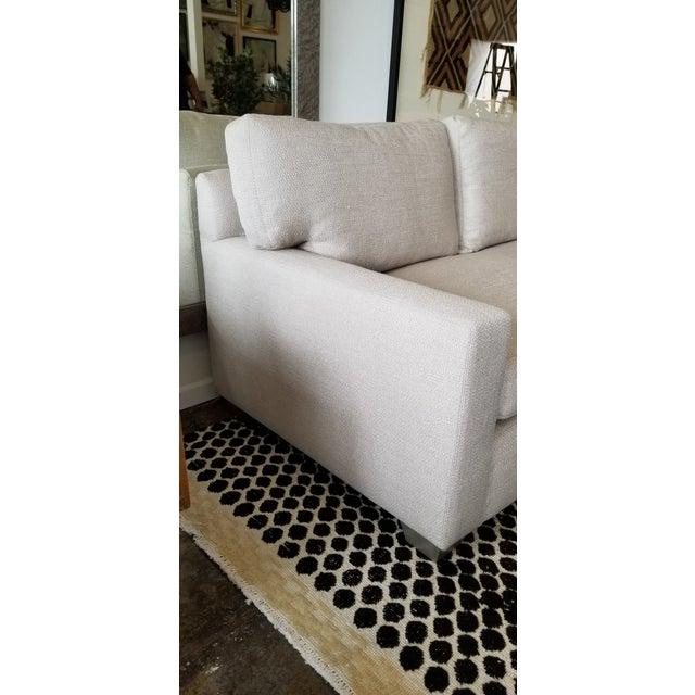 Contemporary -DL Rhein Design Belgian Linen Sofa For Sale - Image 4 of 6