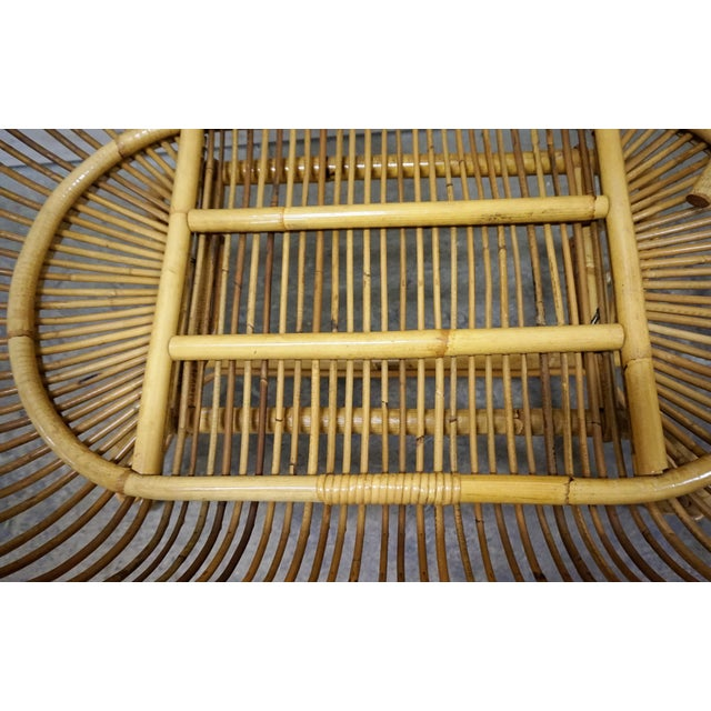 Wood 1950s Vintage Franco Albini Style Bamboo Cradle For Sale - Image 7 of 12