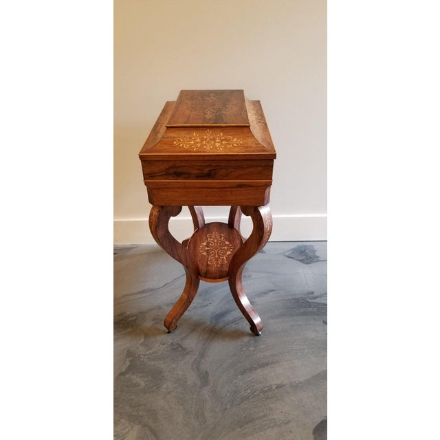Wood Charles X Inlaid Rosewood Ladies Vanity, Early 19th Century For Sale - Image 7 of 13