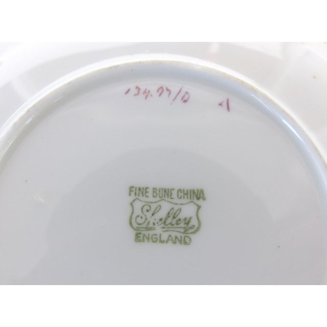 Ceramic Shelley England Bone China Enameled and Gilt Demitasse Cups and Saucers - 10 Pc. Set For Sale - Image 7 of 8