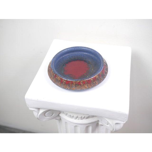 Blue Tilhman's Swedish Ceramic Decorative Bowl For Sale - Image 8 of 9