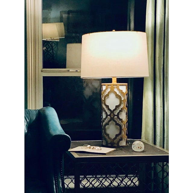 Contemporary Arabella Gold Table Lamp For Sale In Baton Rouge - Image 6 of 10