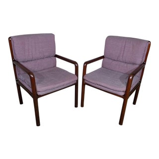 Dunbar Furniture Mid Century Modern Arm Chairs - a Pair For Sale