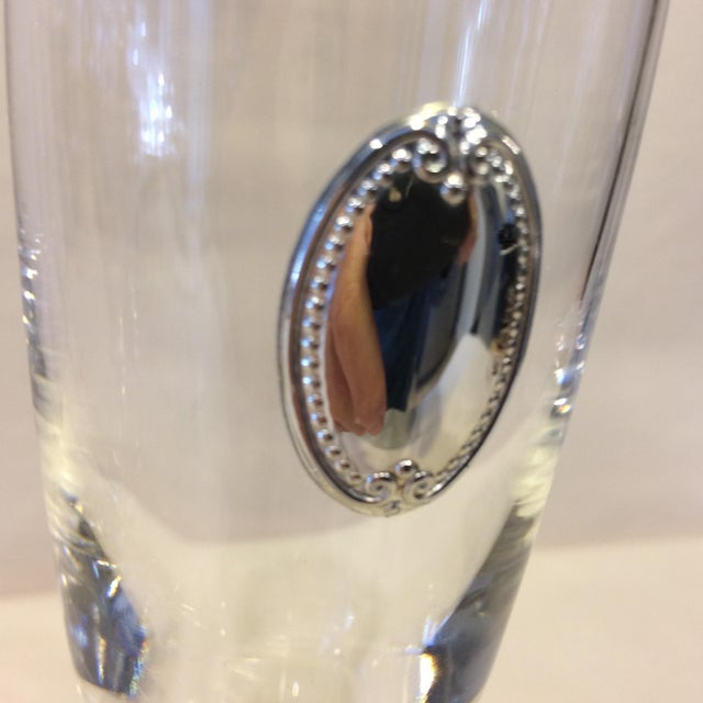 Valenti Vintage Crystal Flutes - A Pair For Sale In Sacramento - Image 6 of 11
