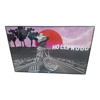 "Original ""Rebel With a Cause"" Hollywood California Framed Art For Sale"