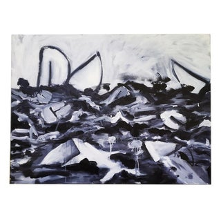 Abstract Shipwreck Oil Painting