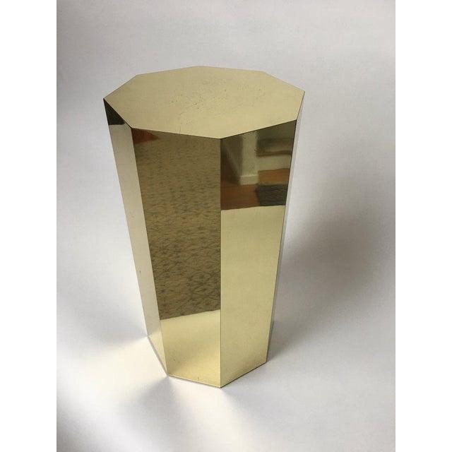 Paul Evans Style Octagonal Brass Pedestal For Sale - Image 9 of 9