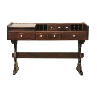 Late 20th Century Ethan Allen Antiqued Pine Old Tavern Desk For Sale