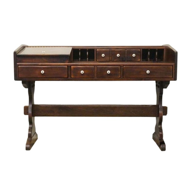 Late 20th Century Ethan Allen Antiqued Pine Old Tavern Desk - Late 20th Century Ethan Allen Antiqued Pine Old Tavern Desk Chairish