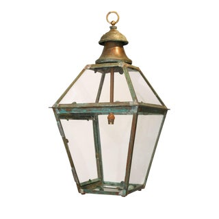 French Copper and Brass Lantern For Sale