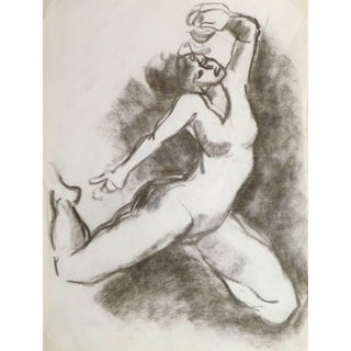 Charcoal Drawing - the Dancer For Sale