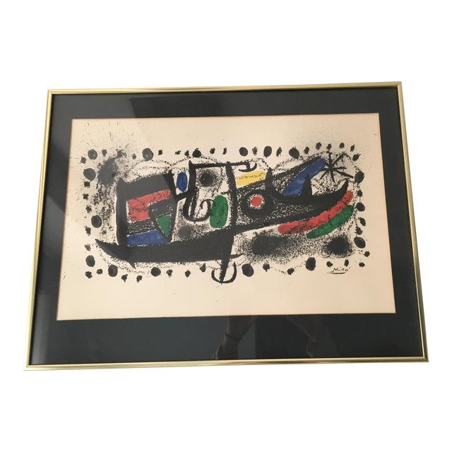 "Joan Miro Mid-Century ""Star Scene"" Signed Original Lithograph - Image 1 of 10"