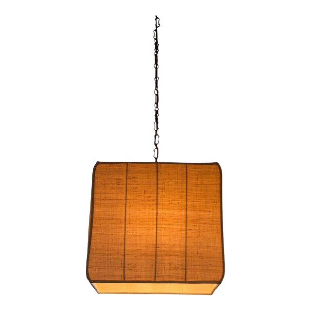 Paul Marra Asian-Inspired Four Light Shaded Pendant For Sale