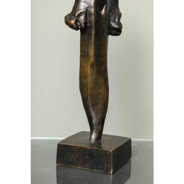 "Brown ""L'Esperance"" Cubist Bronze by Joseph Csaky For Sale - Image 8 of 9"