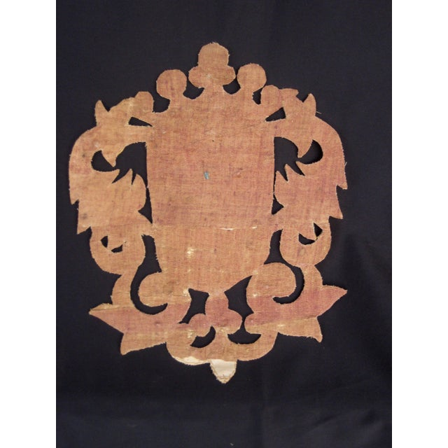 Silk 19th Century Italian Marquee Coat of Arms Armorial Embroidery For Sale - Image 7 of 8