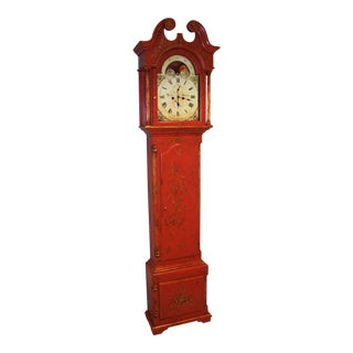 Tall Chinoiserie Clock Case For Sale