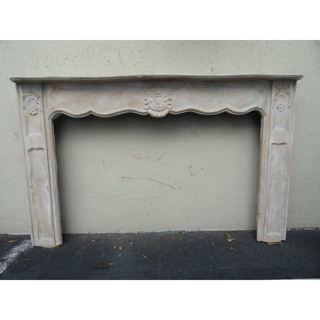 19th Century French Carved Wood Mantel For Sale - Image 10 of 10