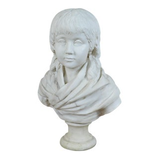Neoclassical Style Bust of Child on Marble Socle For Sale