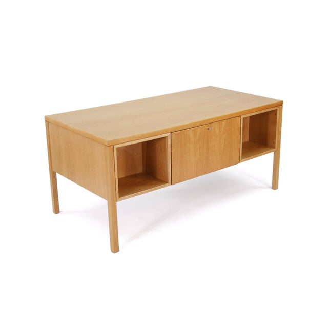 Mid-Century Modern 1960s Danish Modern Executive Desk in Oak by Gunni Omann for Omann Jun For Sale - Image 3 of 13