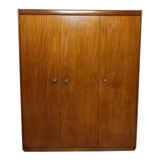 Triple Door Armoire or Wardrobe White and Newton of England For Sale