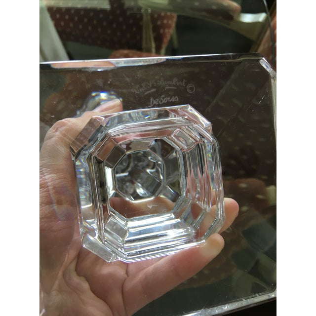Val St. Lambert Crystal Candlestick Holders For Sale In Los Angeles - Image 6 of 6