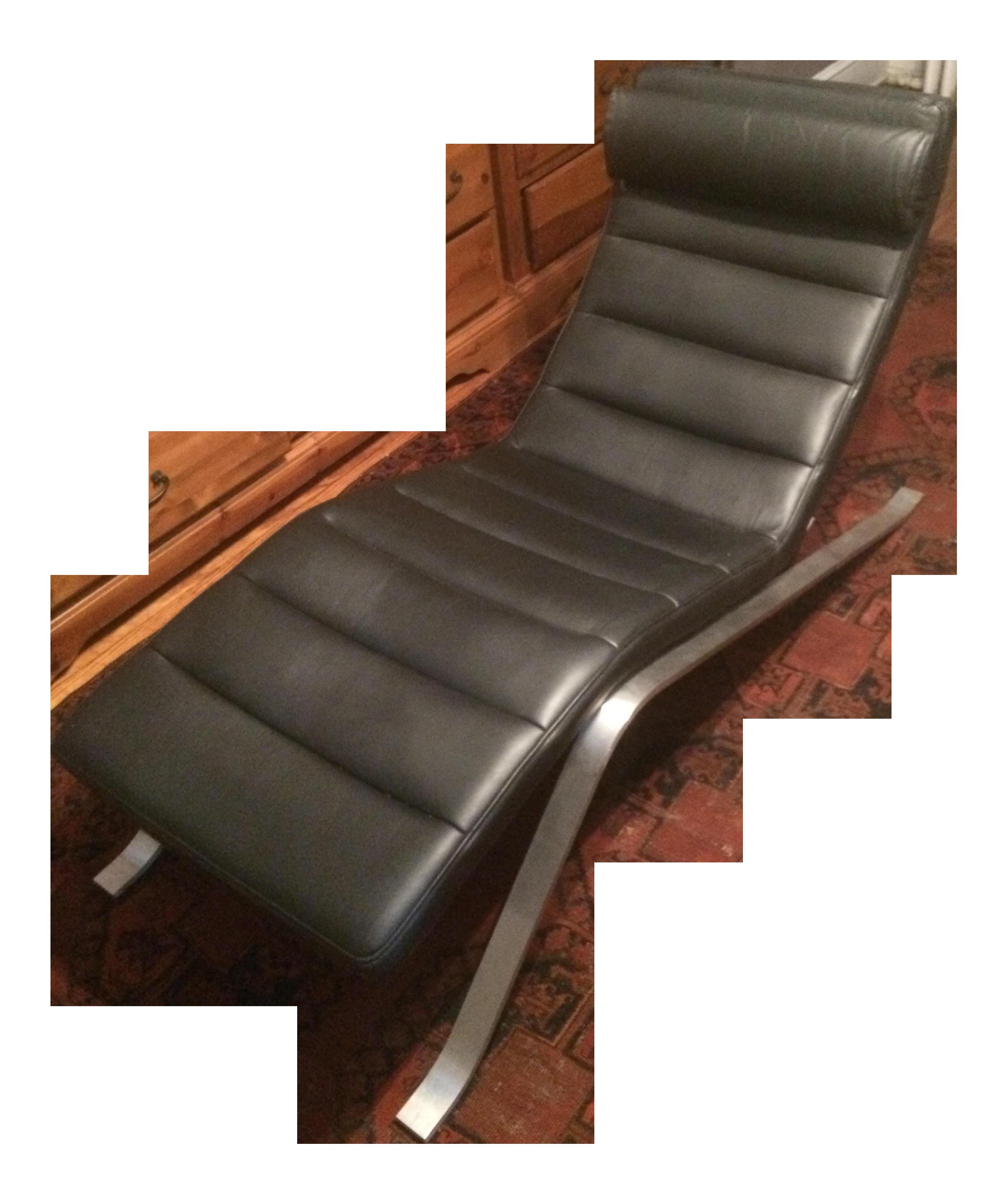 Modern Boconcept Pavia Black Leather Chaise Lounge Chairish