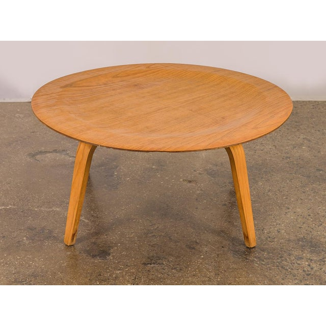 Vintage Eames Molded Coffee Table Wood Base For Sale - Image 9 of 9