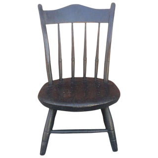 Early Ne 19th C. Original Painted Surface Child's Windsor Chair For Sale