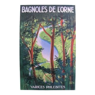 1930s Original French Art Deco Poster, Bagnoles De l'Orne - Paul Colin