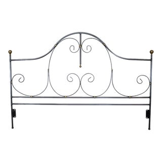 Charleston Forge Quality Iron King Size Headboard For Sale