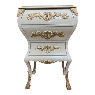 Neoclassical Gold Leaf Accent Chest of Drawers