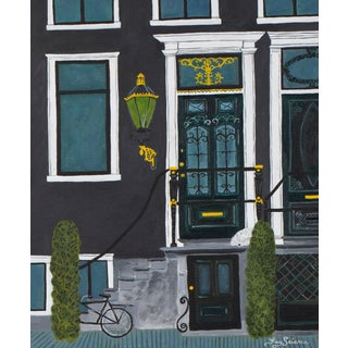 Amsterdam Front Door Painting For Sale