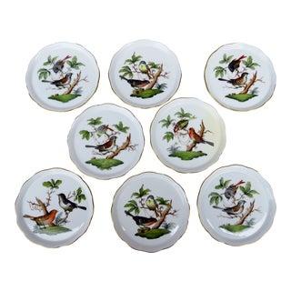 Herend Rothschild Porcelain Coasters - Set of 8 For Sale