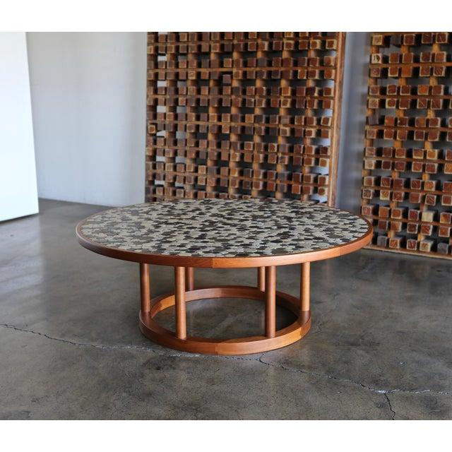 Mid-Century Modern Jane & Gordon Martz Ceramic Tile Coffee Table for Marshall Studios, Circa 1960 For Sale - Image 3 of 11