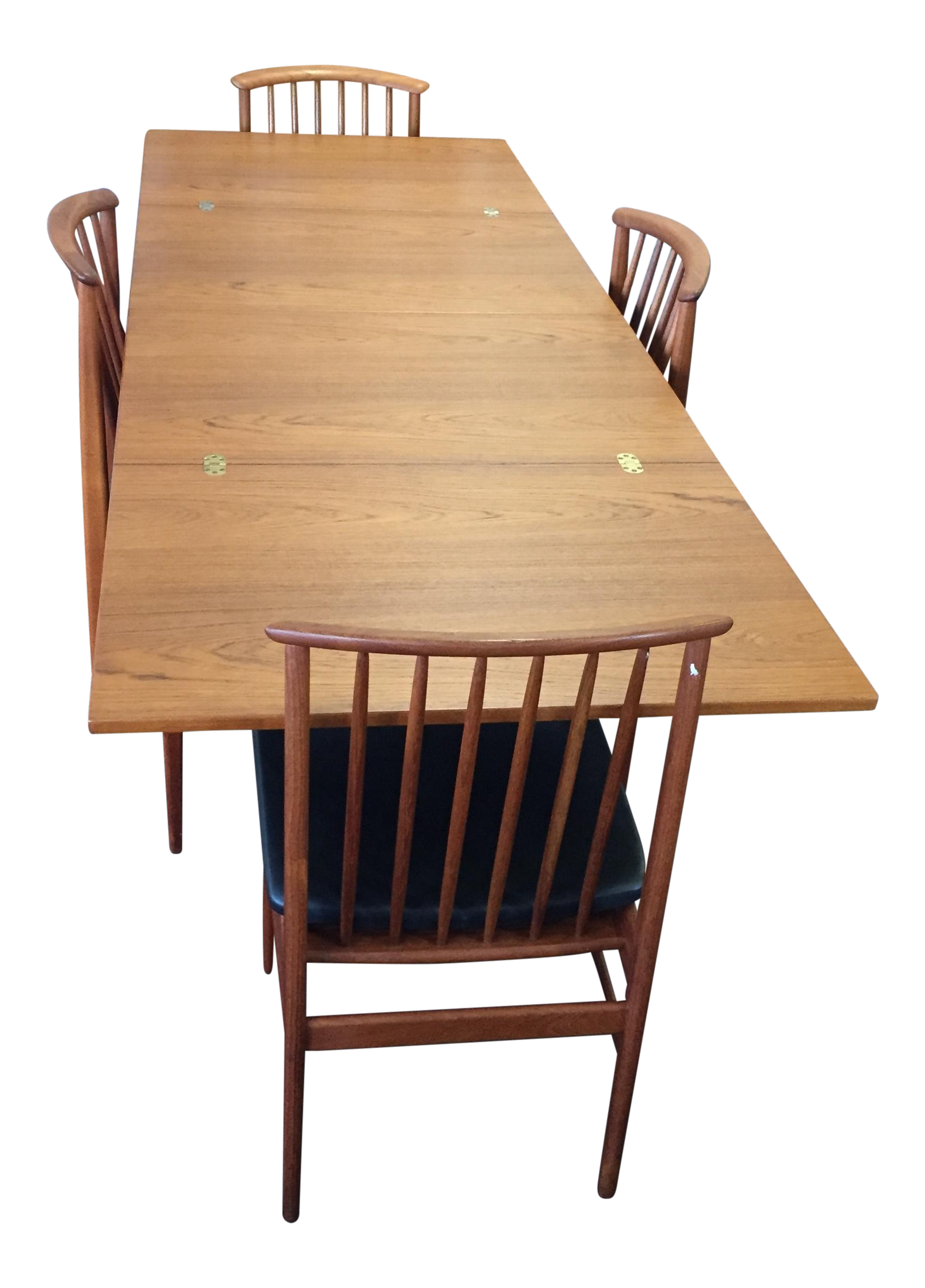 Swedish Skaraborgs Dining Flip Flop Table U0026 Dux Chairs